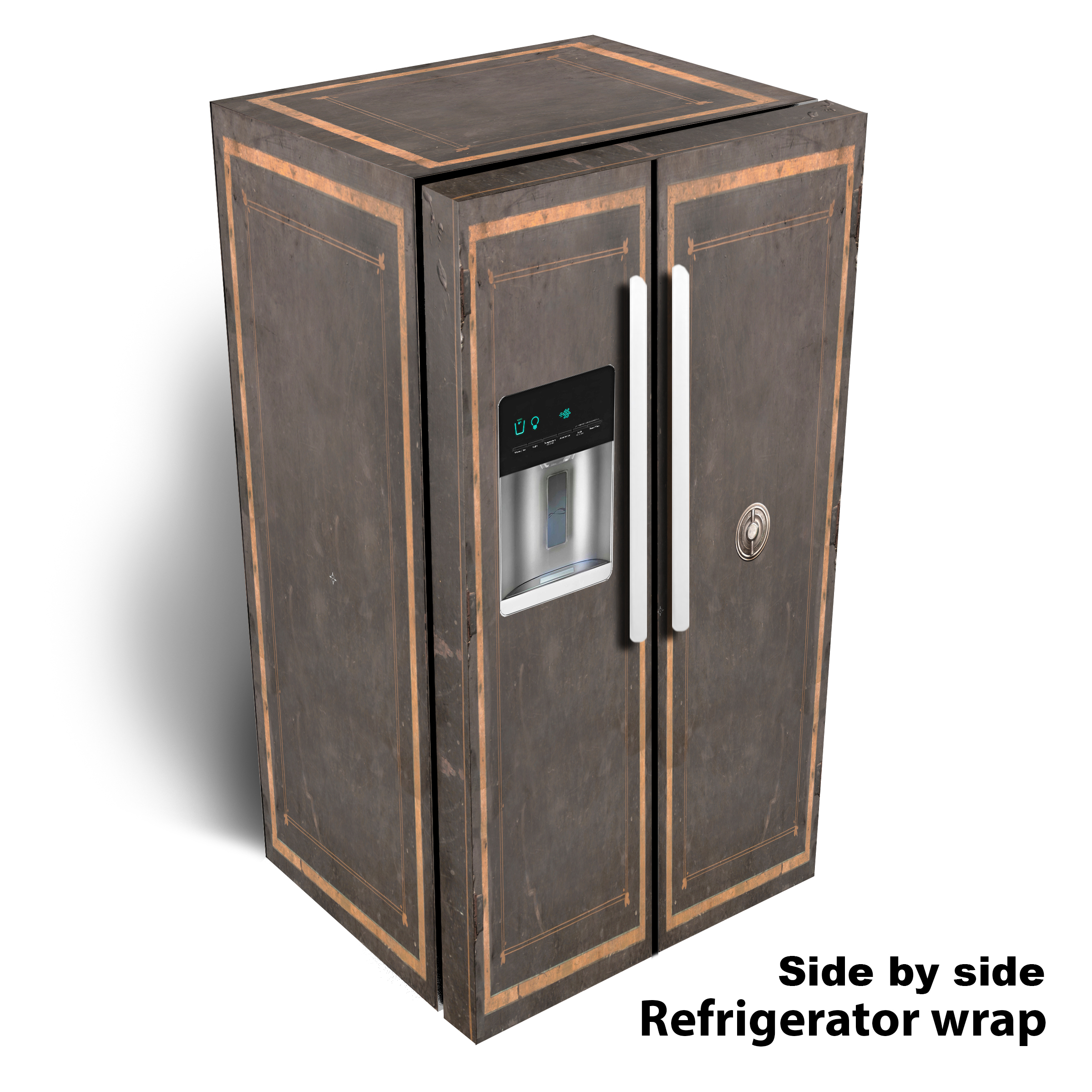 Vintage Safe Side by Side Refrigerator Wrap