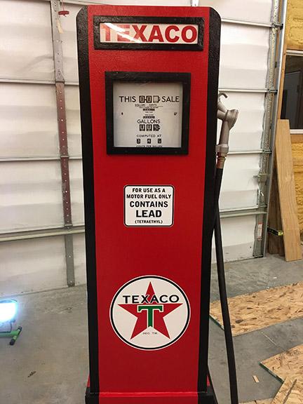 Vintage Gas pump Gauge, Wrap #6612, rm wraps