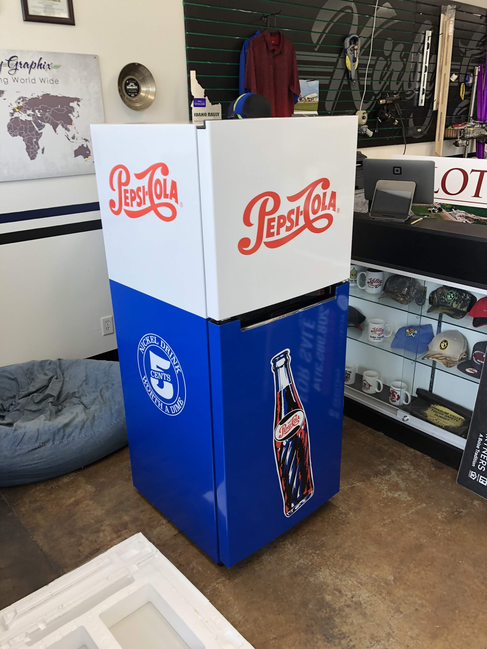Pepsi Fridge wrap