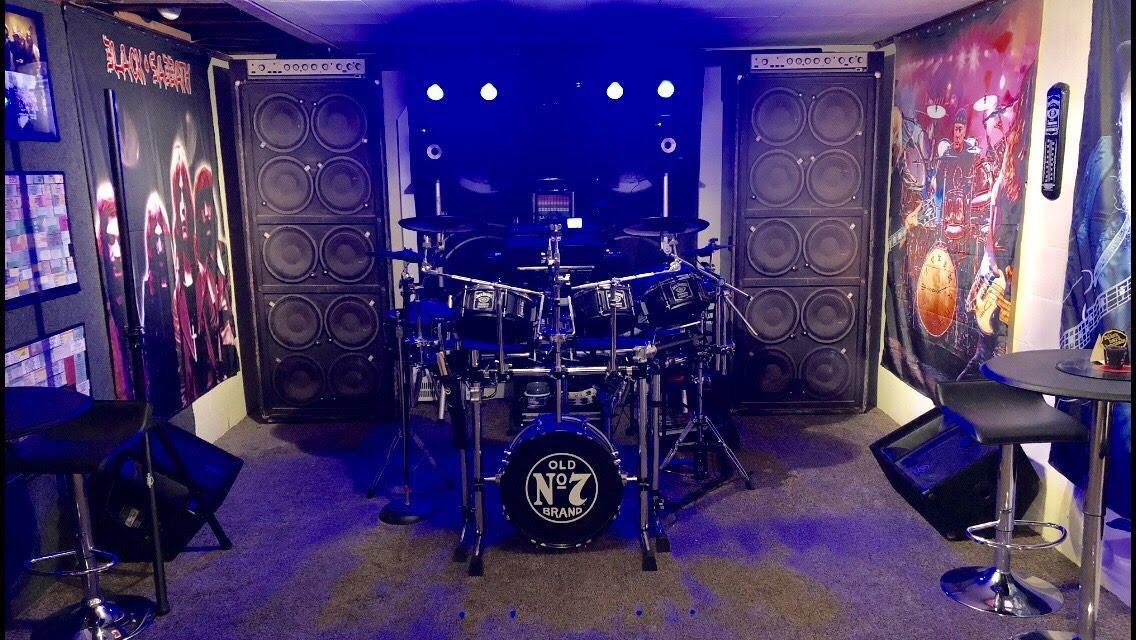 Amplified 10 Speakers, Door wrap, rm wraps, door skin, door cover, door mural, music door.