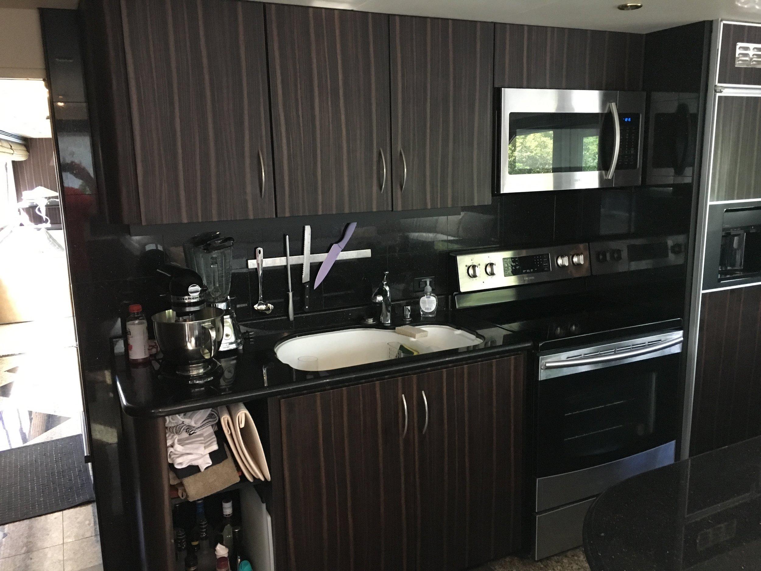Kitchen cabinet wrap