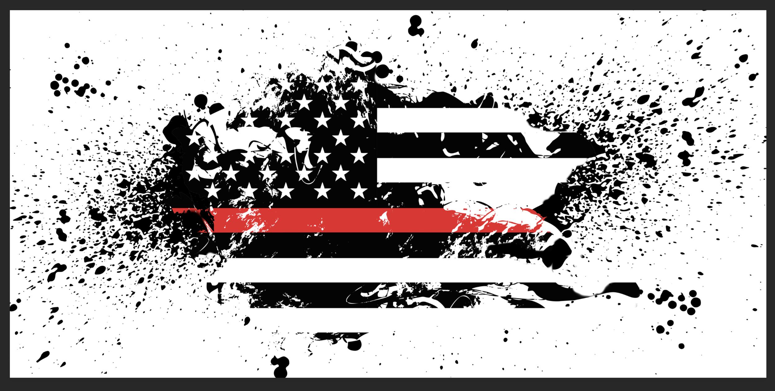 Red Line, USA Flag, Table Wrap, Rm wraps