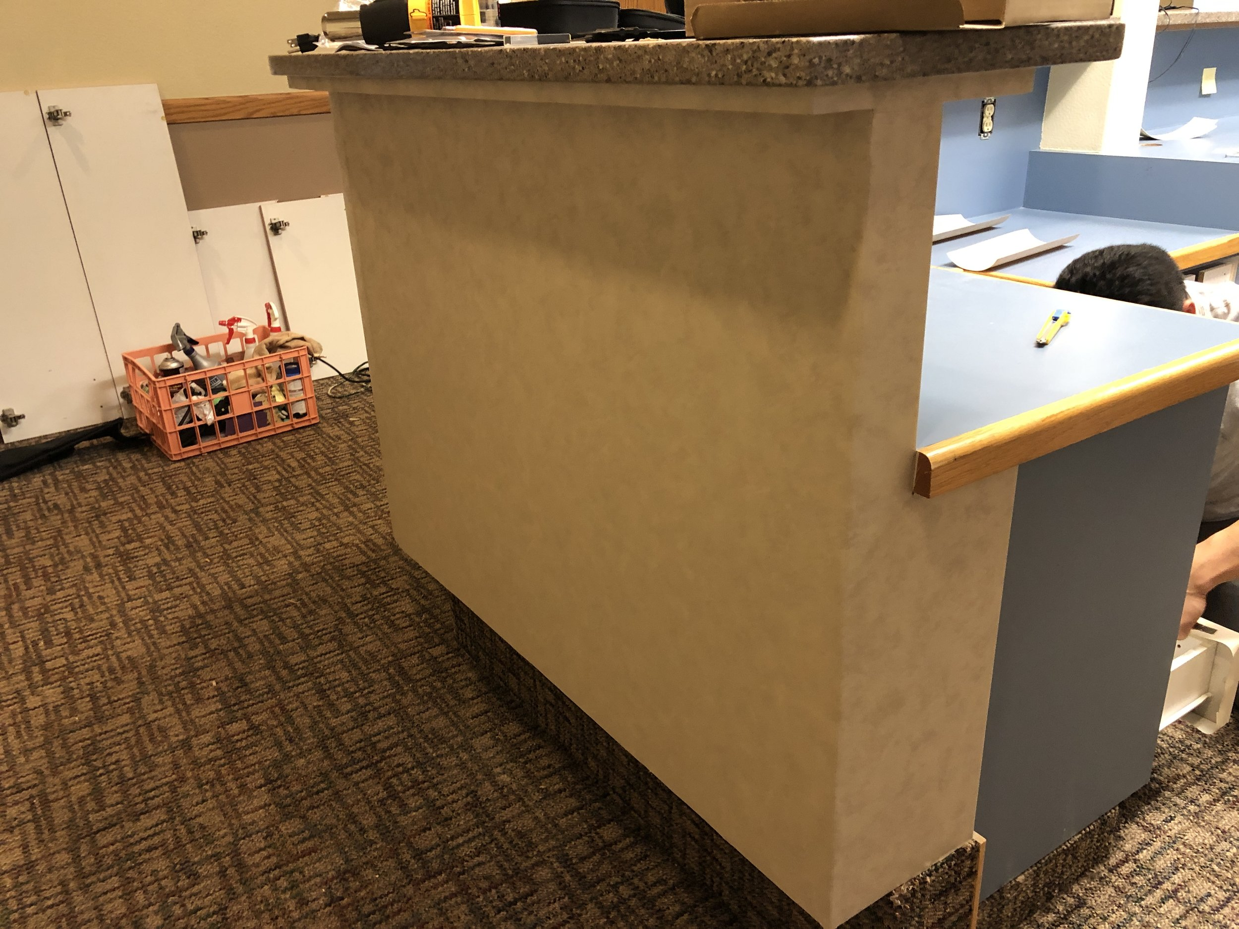Reception desk Front wrap