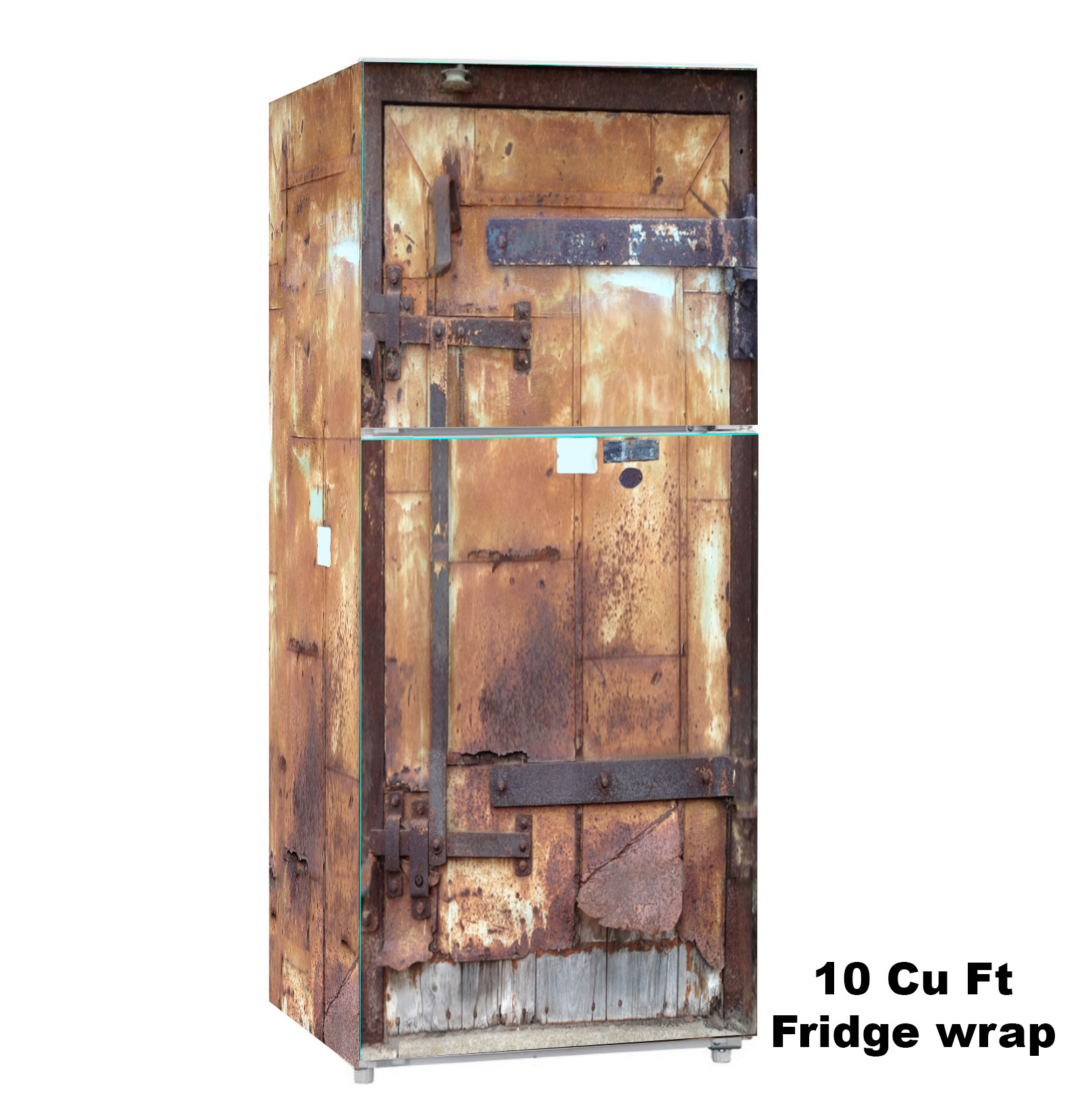 Mill City, 10 cu. ft., Fridge Wrap, Rm wraps, Rustic door
