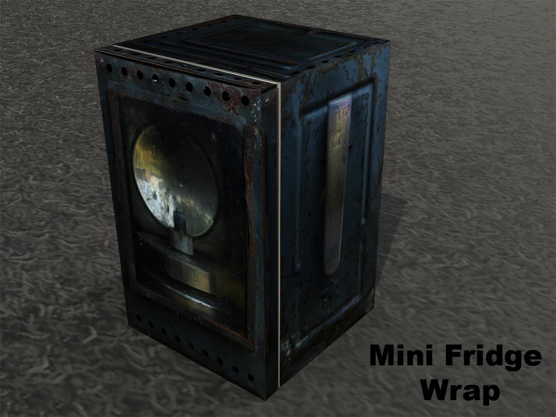 Vintage Lamp, Mini Fridge Wrap, rm wraps