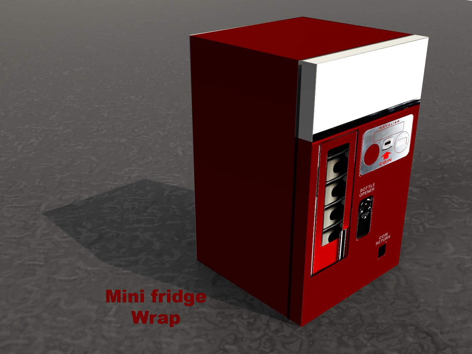 Red Vended machine, mini fridge wrap, Rm wraps