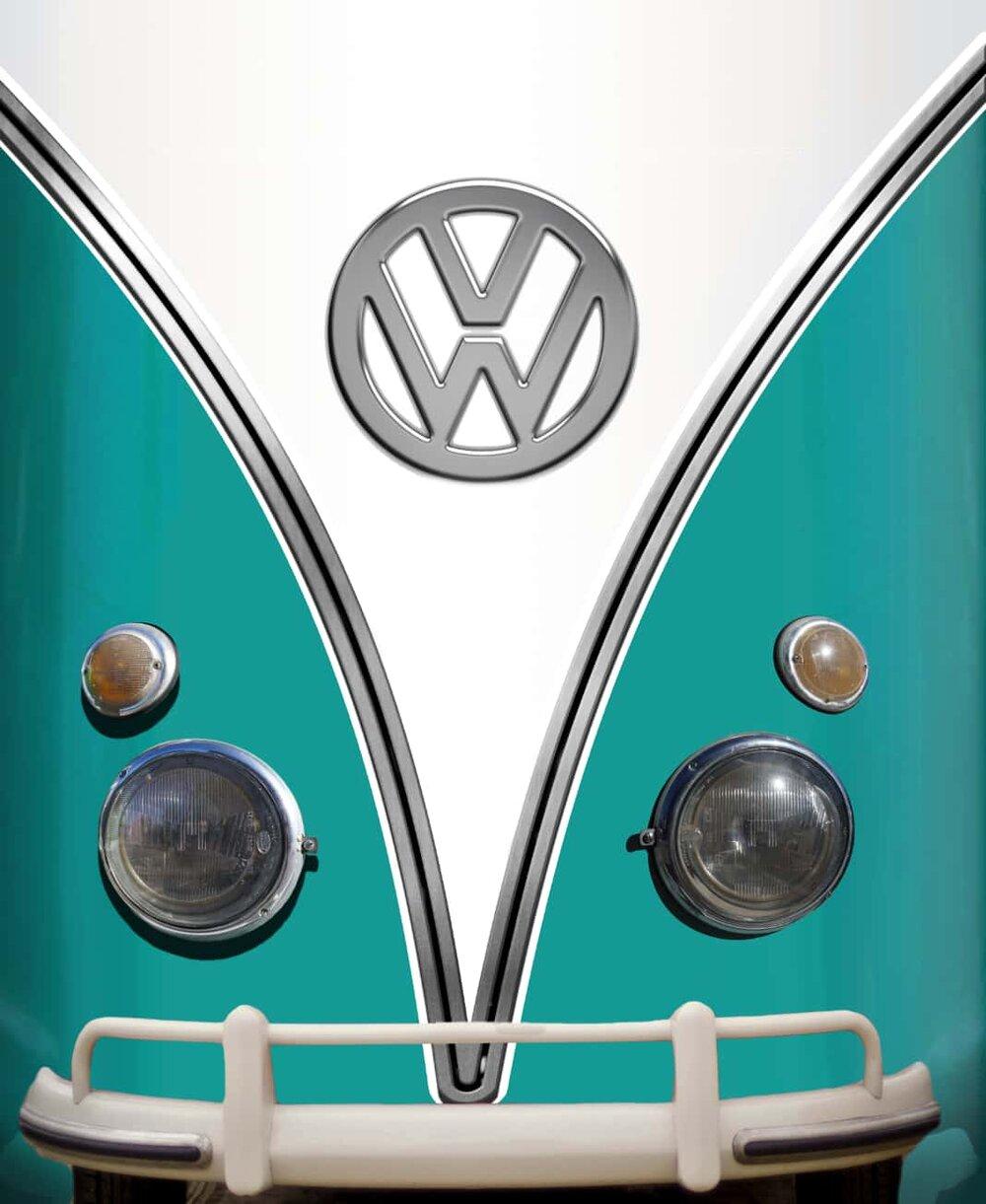 Vintage Vw Bus Agua Refrigerator Wrap Rm Wraps