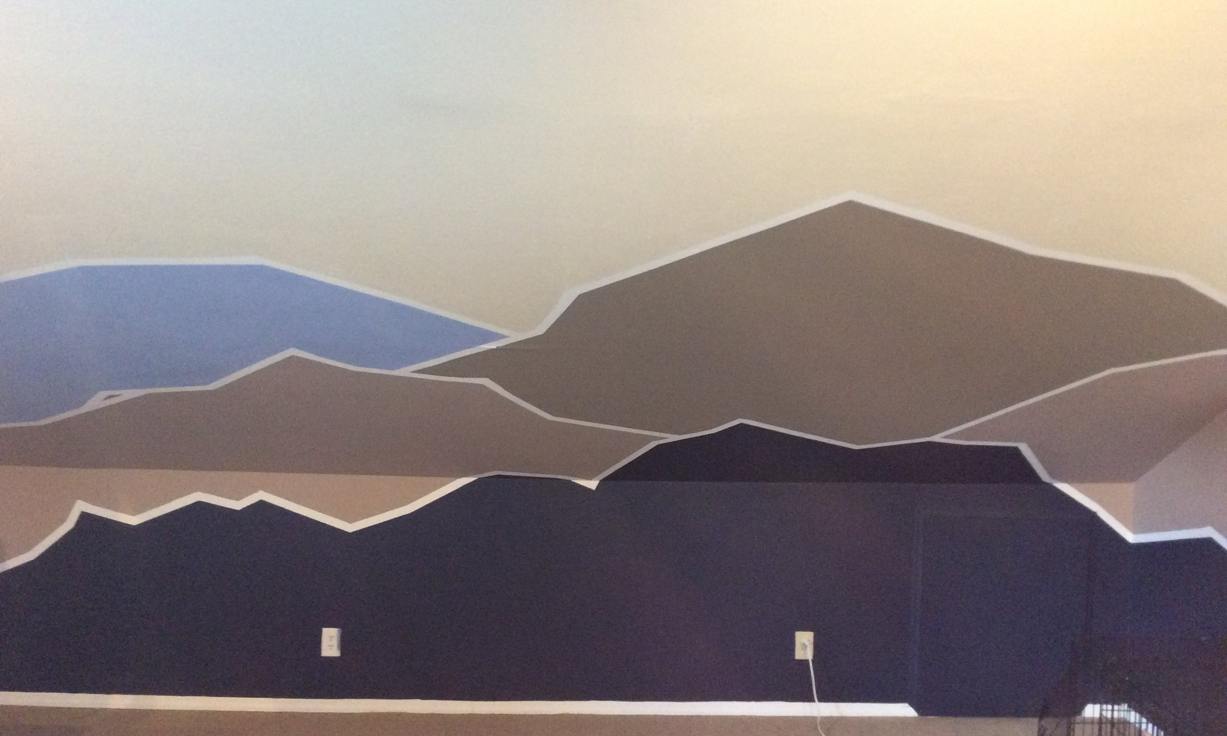 The OriginalMountain Mural  - Honestly, I loved that mural. I loved falling asleep being reminded of the mountains and waking up to them.
