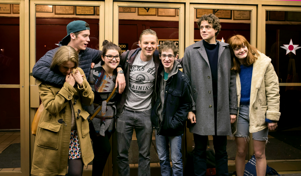 With Lilly Englert, Pico Alexander, Annie Funke, Will Pullen, Noah Robbins, and Douglas Smith. Photo by Karsten Moran.
