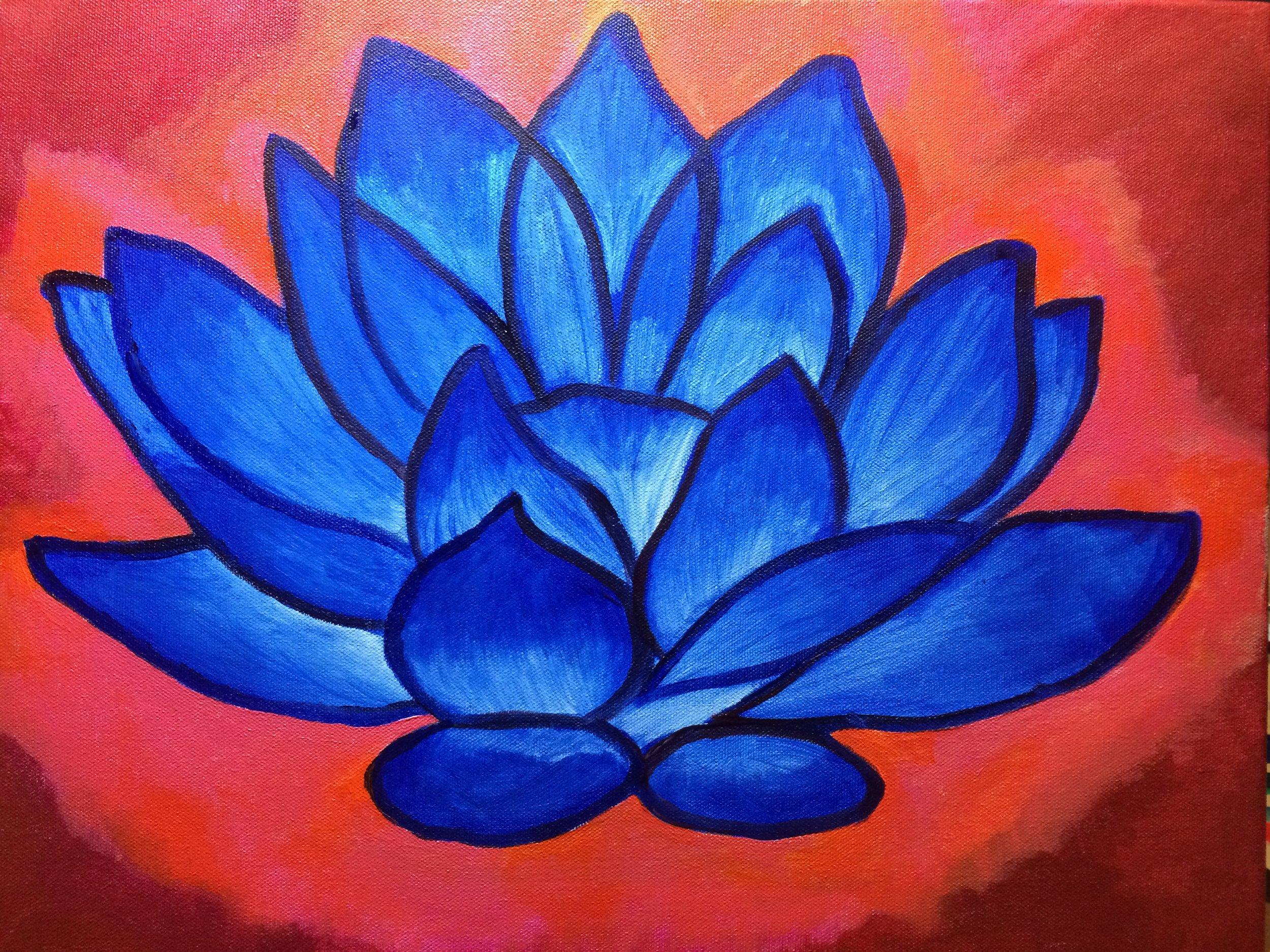 Ajna Chakra Indigo Lotus
