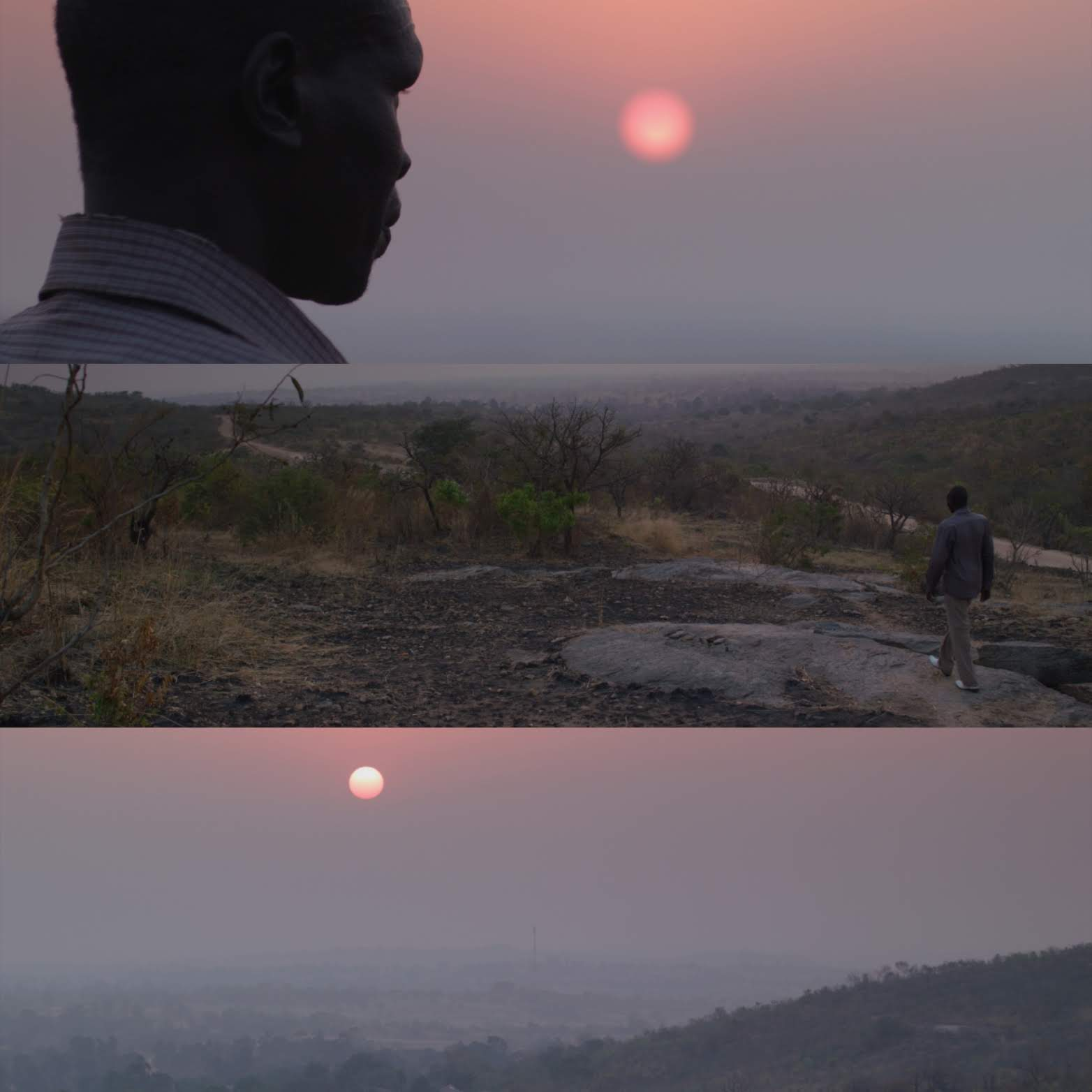Elder Simon Peter stands before the sunrise