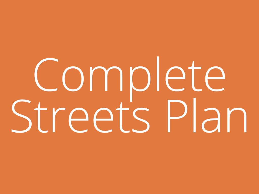 Complete Streets Plan Home Page