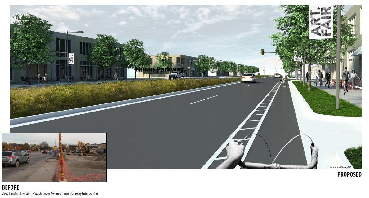 A possible multi-modal future for Washtenaw Ave.