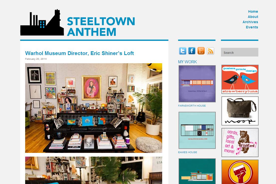 steeltown anthem - warhol museum director eric shiner's loft