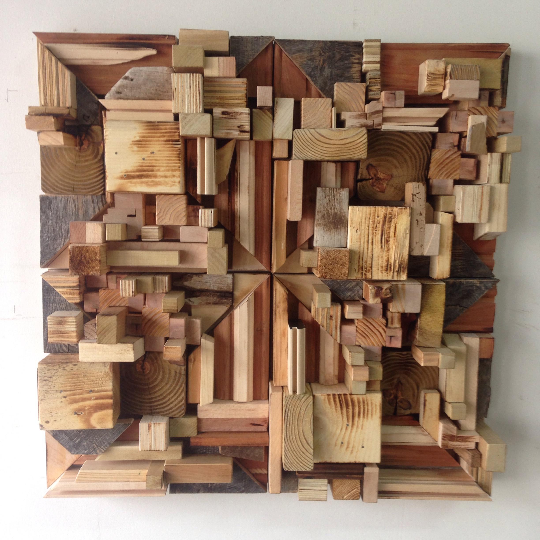 4 Unpainted Nebraska Sound Diffuser panels