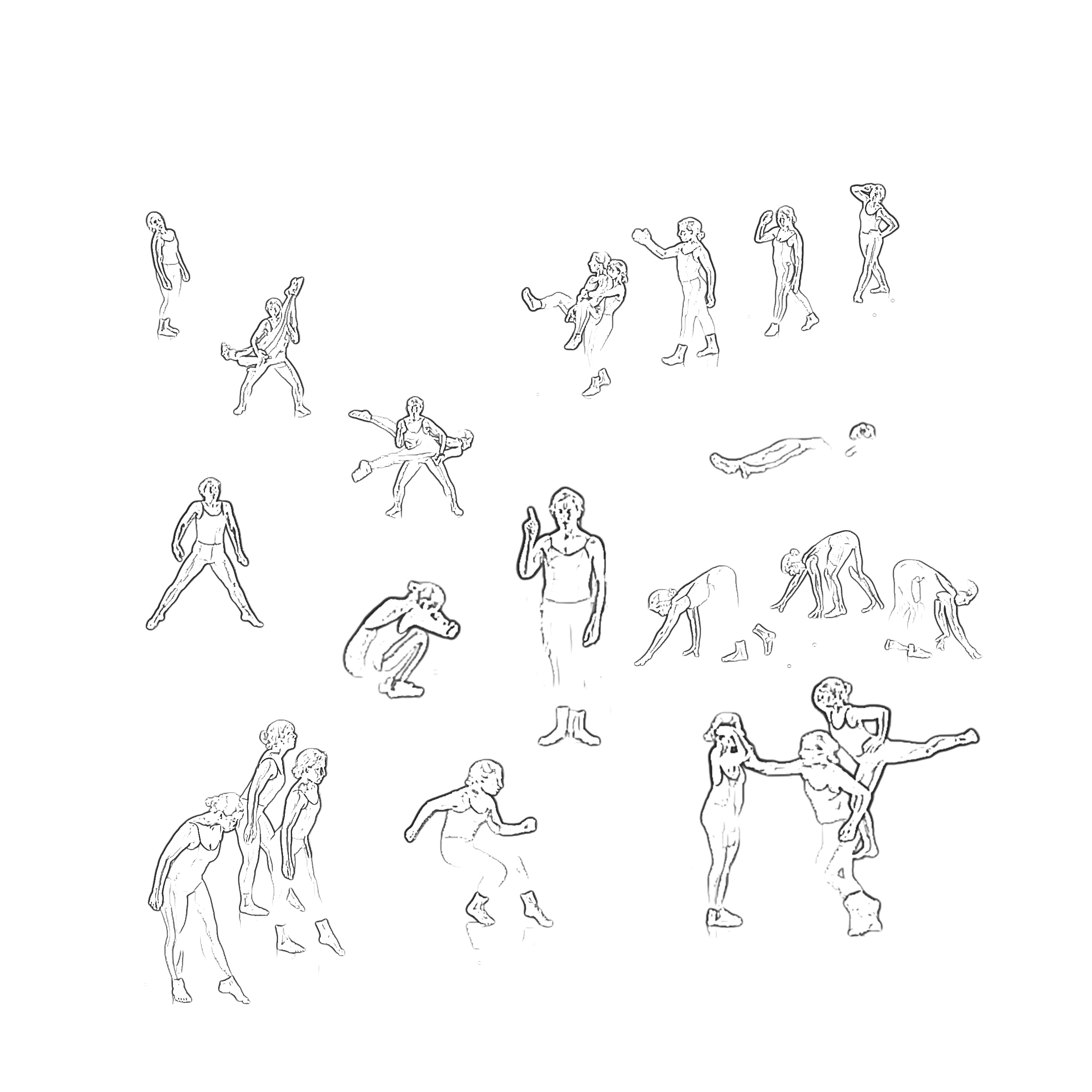 Drawn Dances , video, mixed-media, 2012/2013. Image by Sasha Amaya.