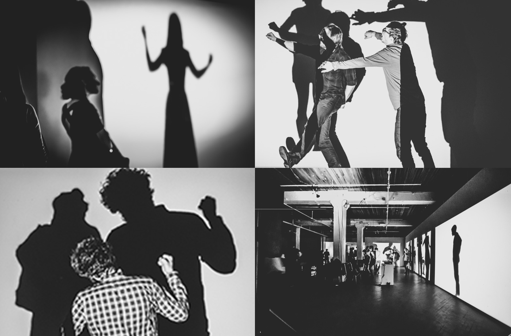 POP + NOISE, video installation, Cluster Festival of New Music + Integrated Arts, 2013. Photos: Pablo Riquelme.