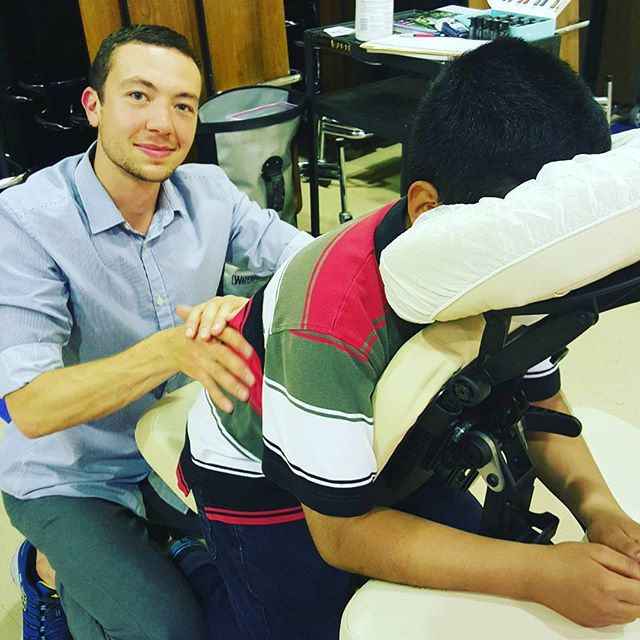 Massage for Students, teachers and PTA groups.