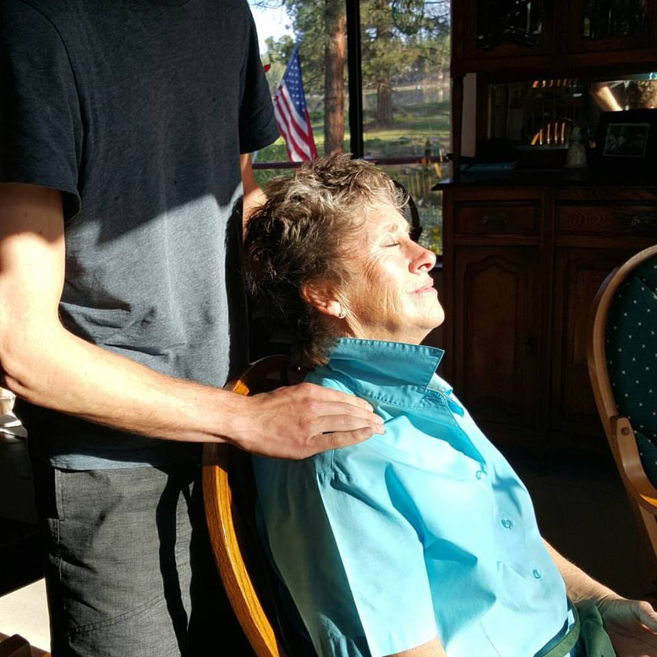 Massage and elders, is a very special thing in my life. Elders are so deprived of touch, Massage has such a PROFOUND effect on their life!