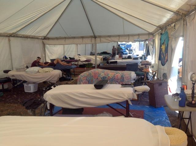 Cycle Oregon Massage Tent