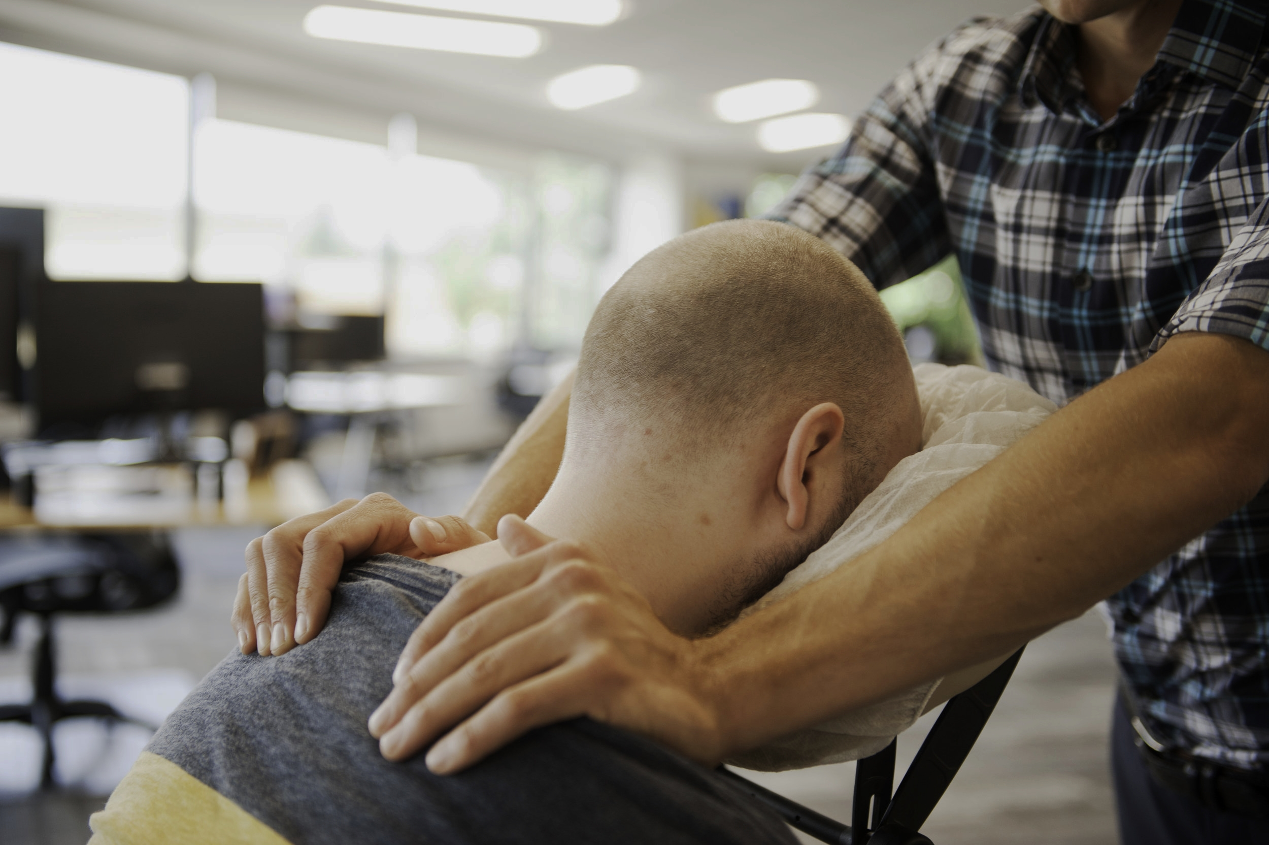 2-hour Chair Massage in your office today - Make your staff happy, improve customer ralations, build your business right!
