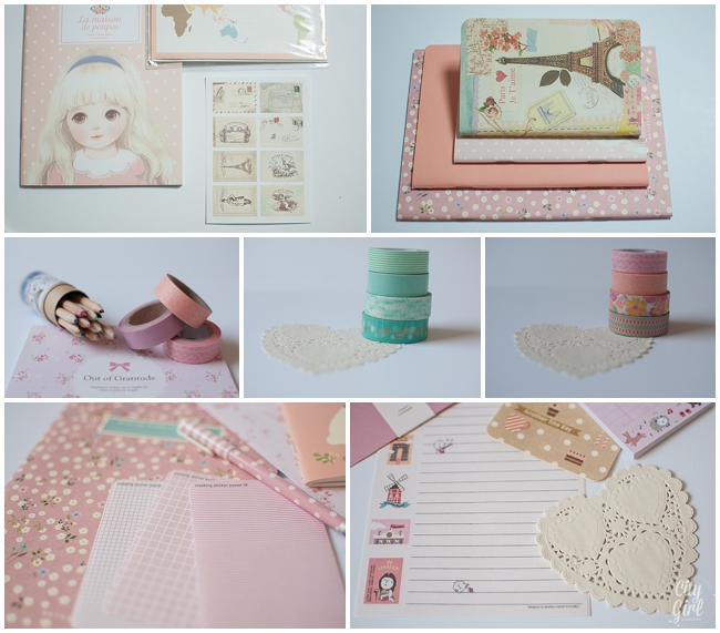 A sample of some of the items that go into each pretty package...