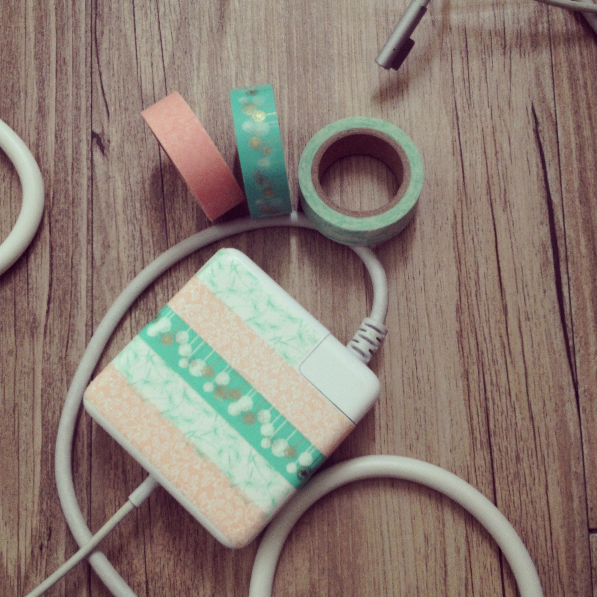 DIY Washi Tape your Computer Cord