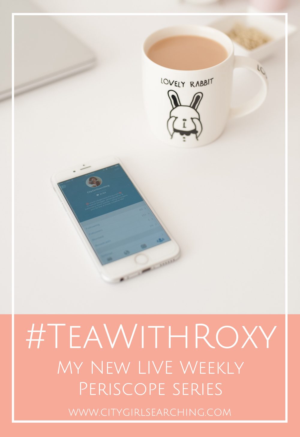 CityGirlSearching Tea with Roxy Periscope Blogging Tips