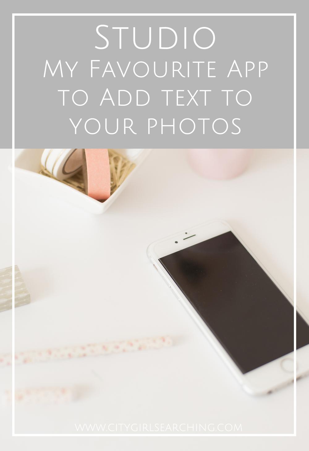 Studio Favourite App to Add Text To Photos