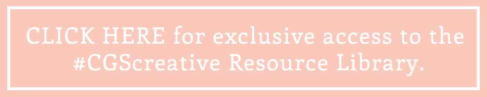 CGScreative resource library for bloggers and creative small business owners