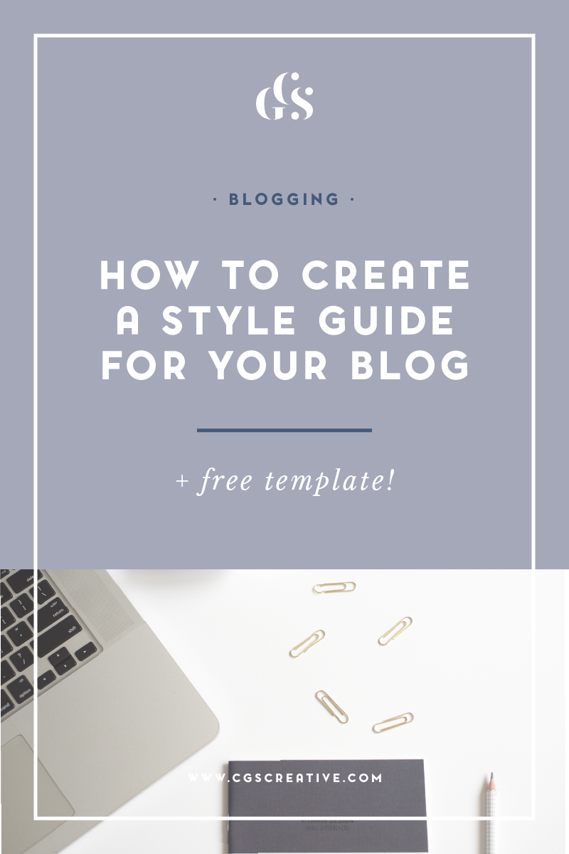 How to create A Style Guide for your Blog Brand Free Template