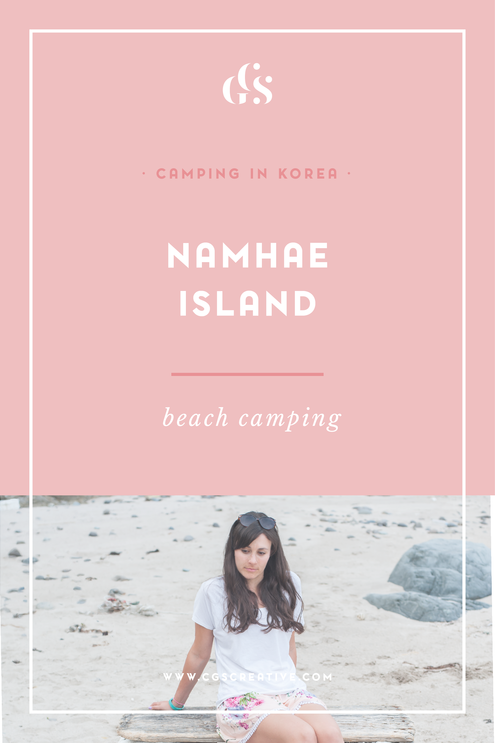 Camping On Namhae Island, Korea. Camping on the beach in Korea