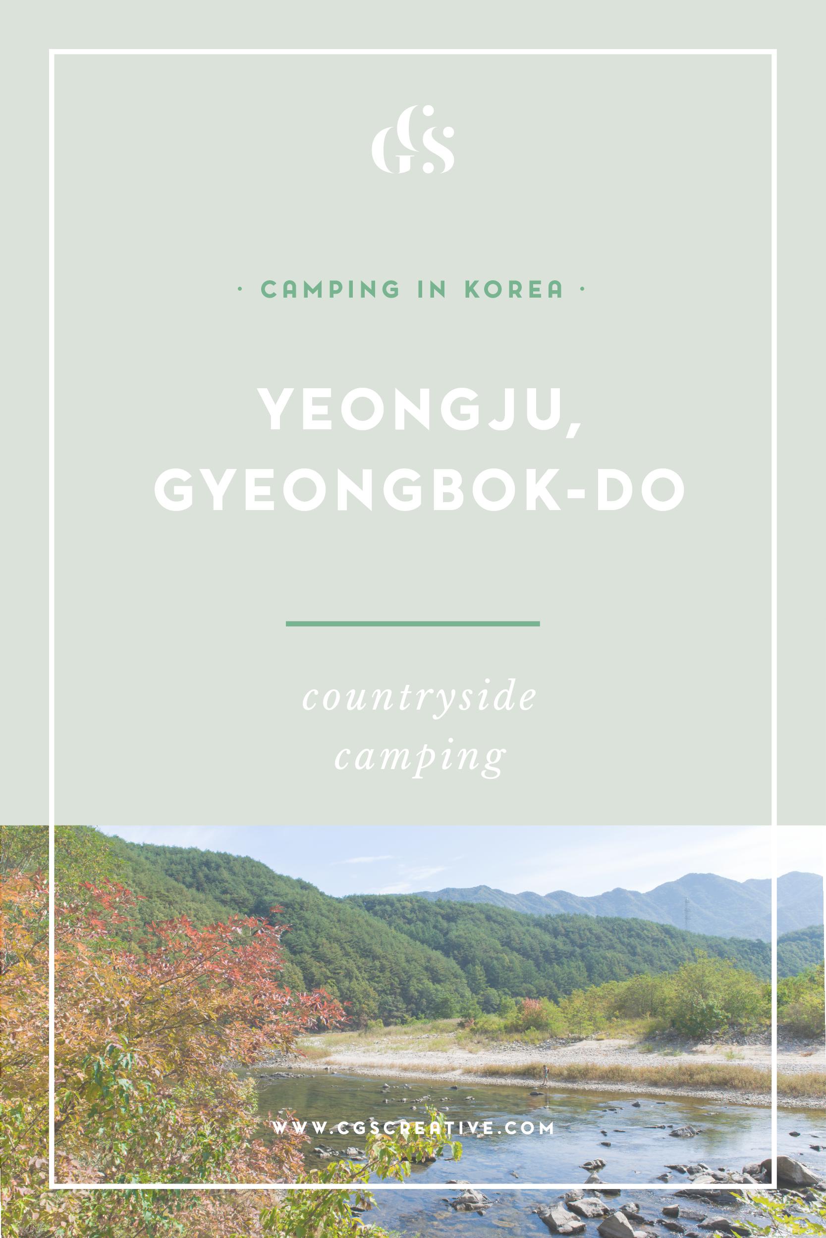 Camping Fishing in Yeongju Korea