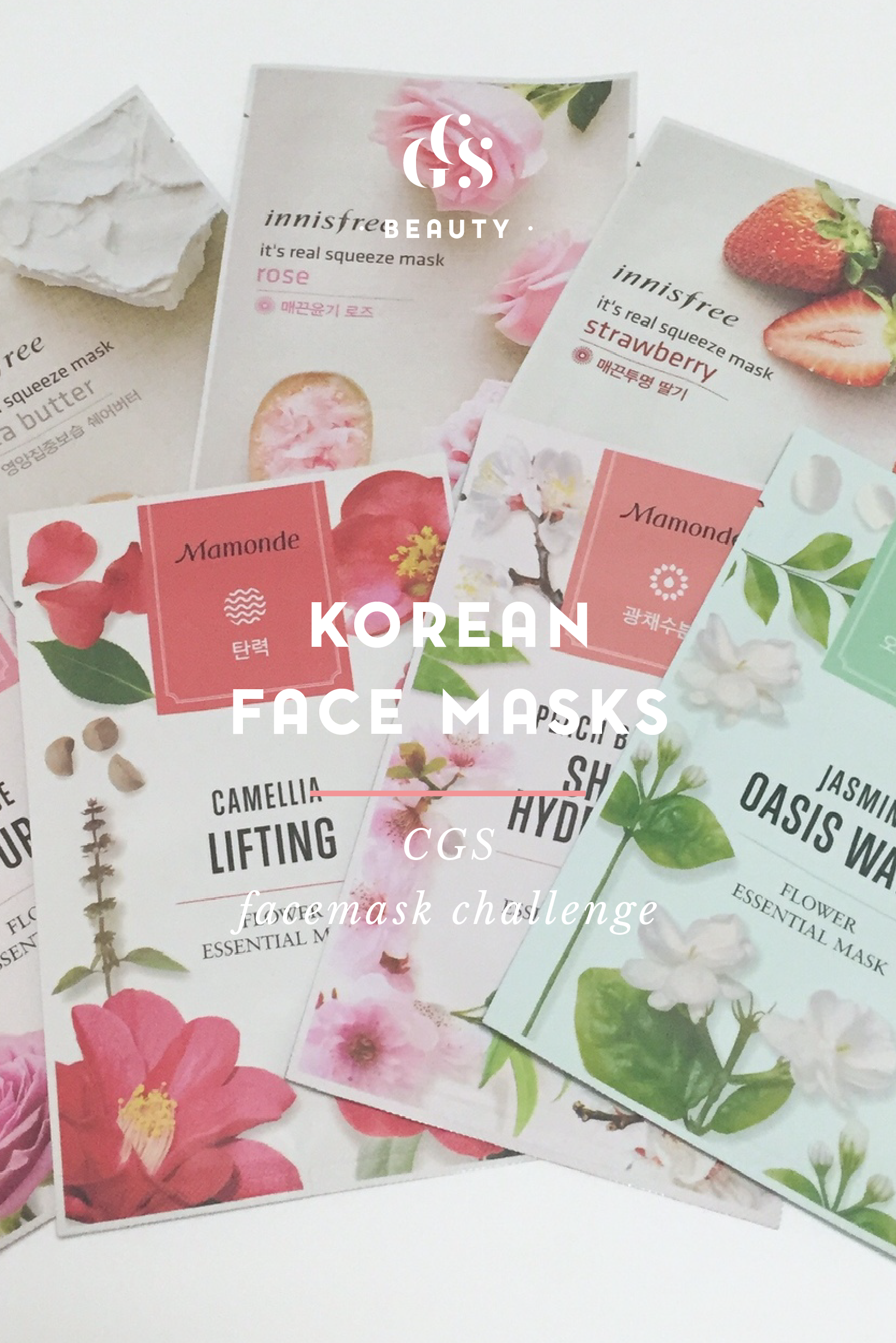 #CGSFaceMaskChallenge Korean Beauty Sheet Masks