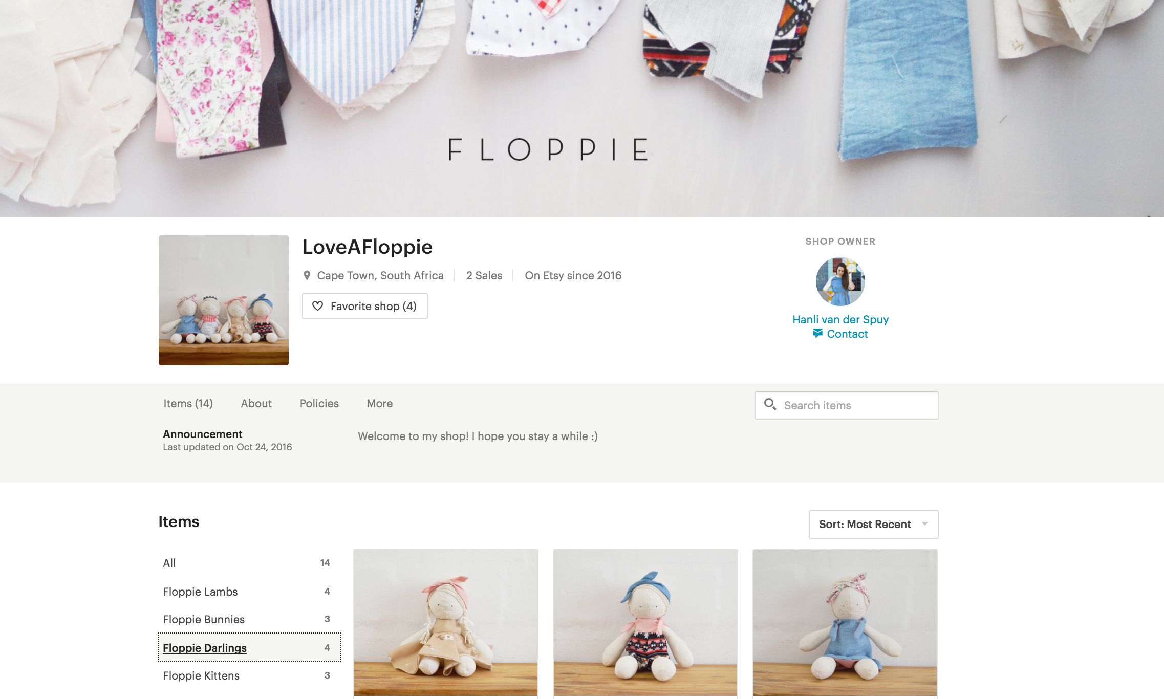 Love a Floppie - Handcrafted dolls