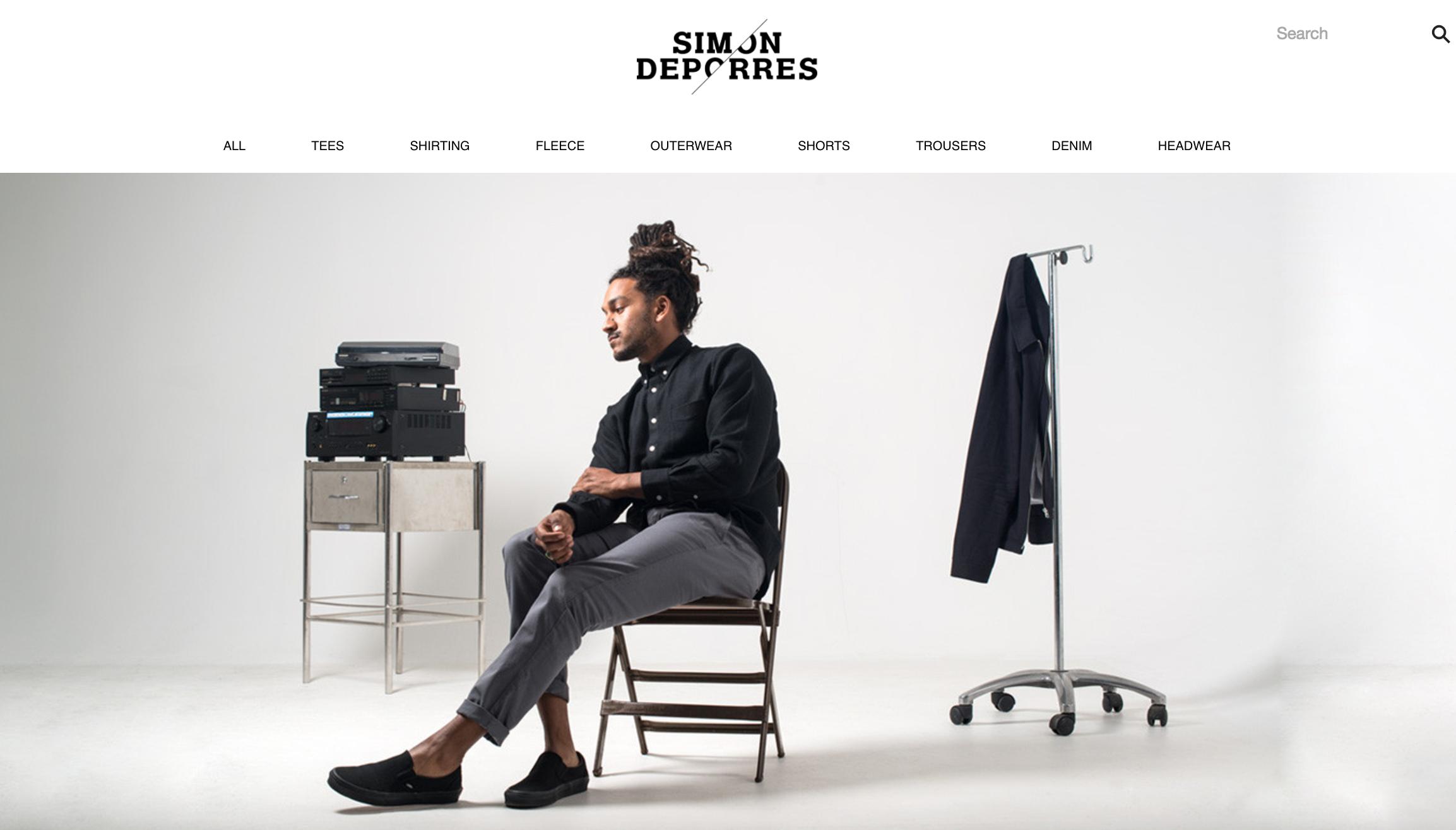 Simon Deporres Mens Clothing