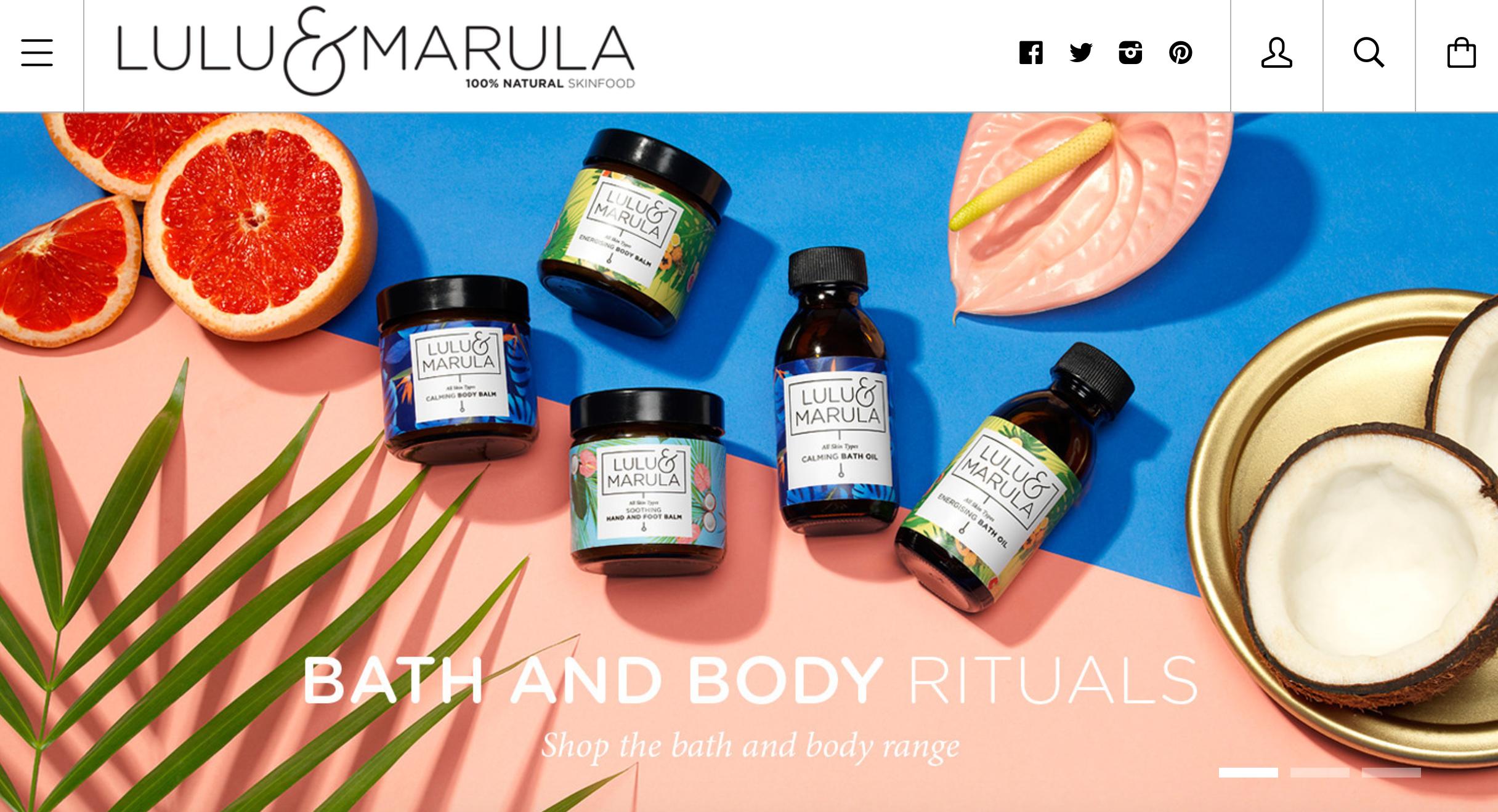 Lulu & Marula natural skincare products