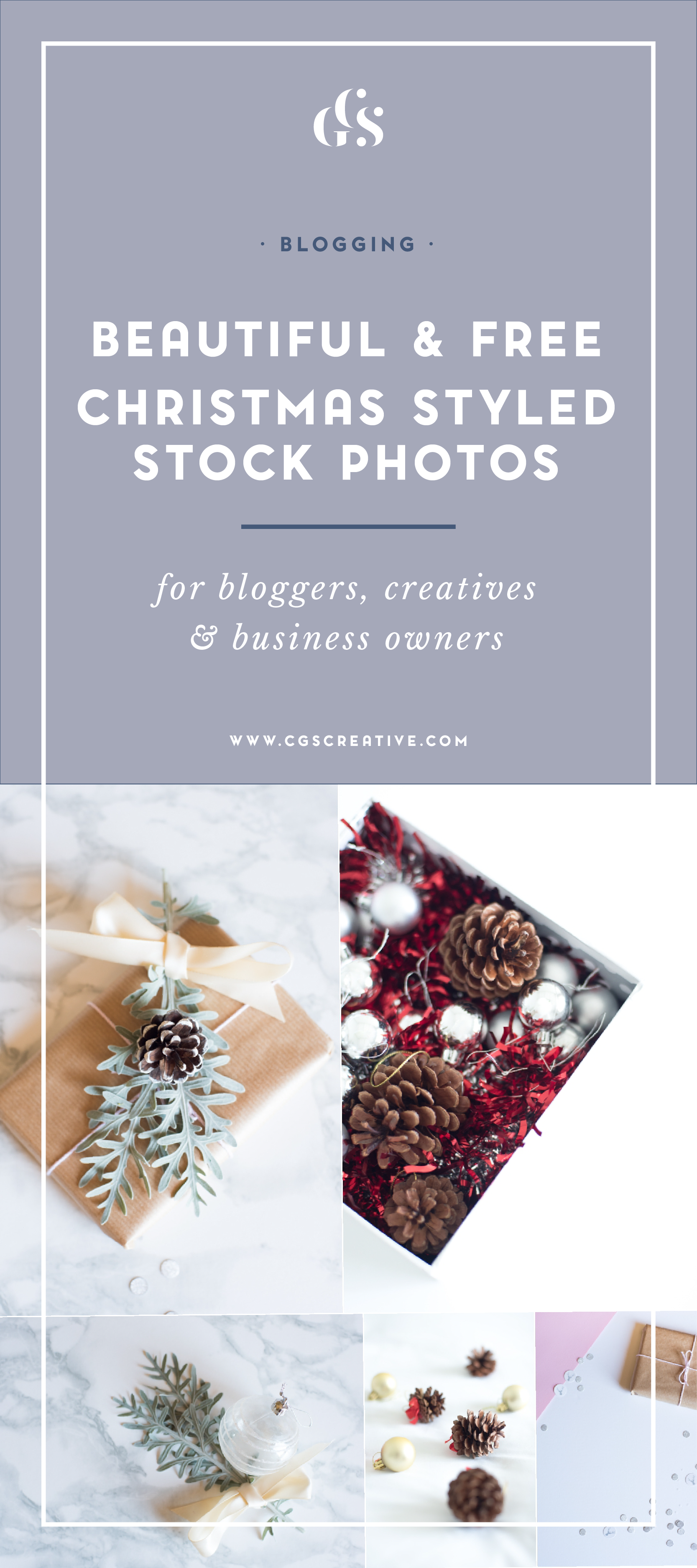 Beautiful & free christmas styled stock images for your blog, business or social medai