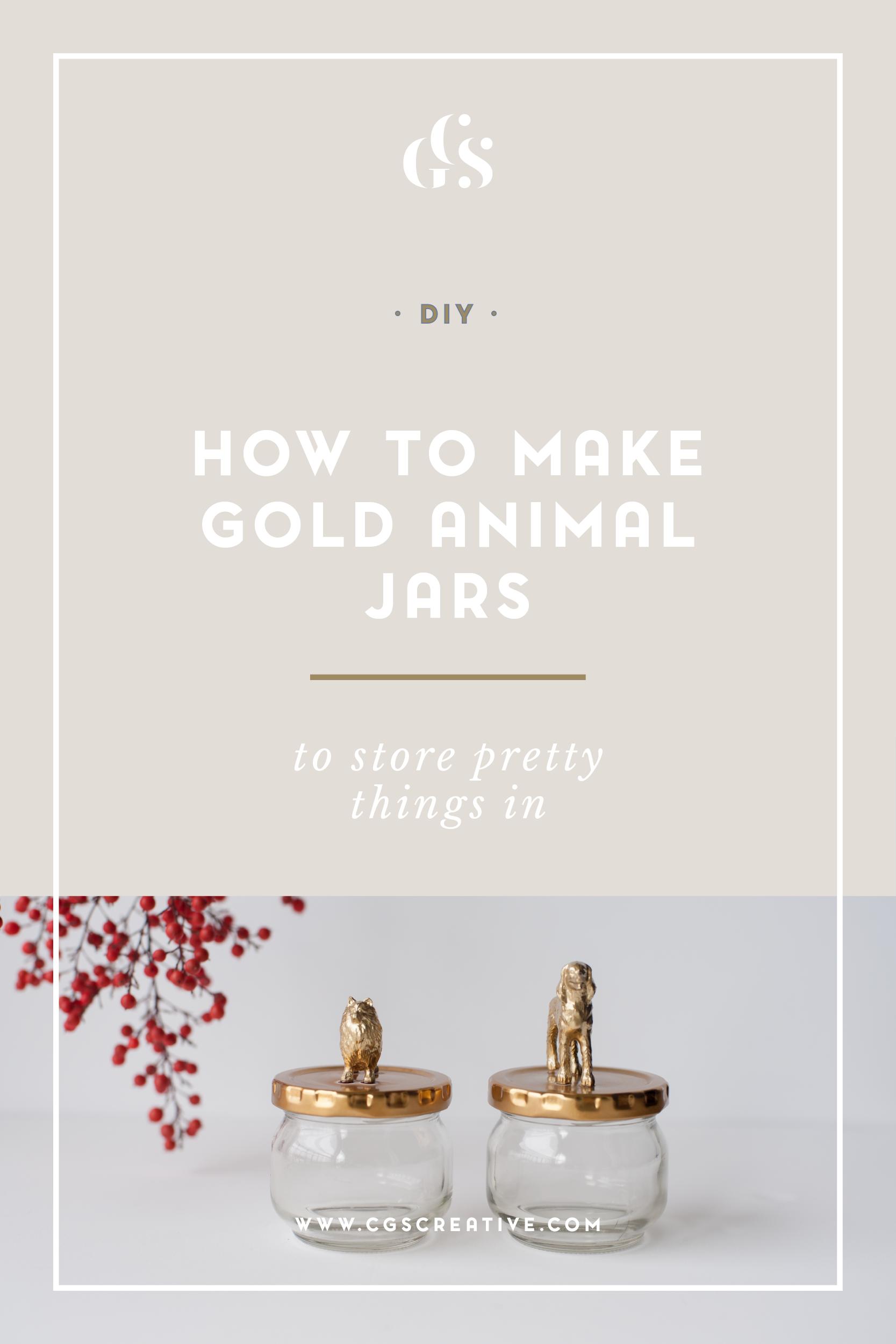 How To Make Gold Animal Glass Jars