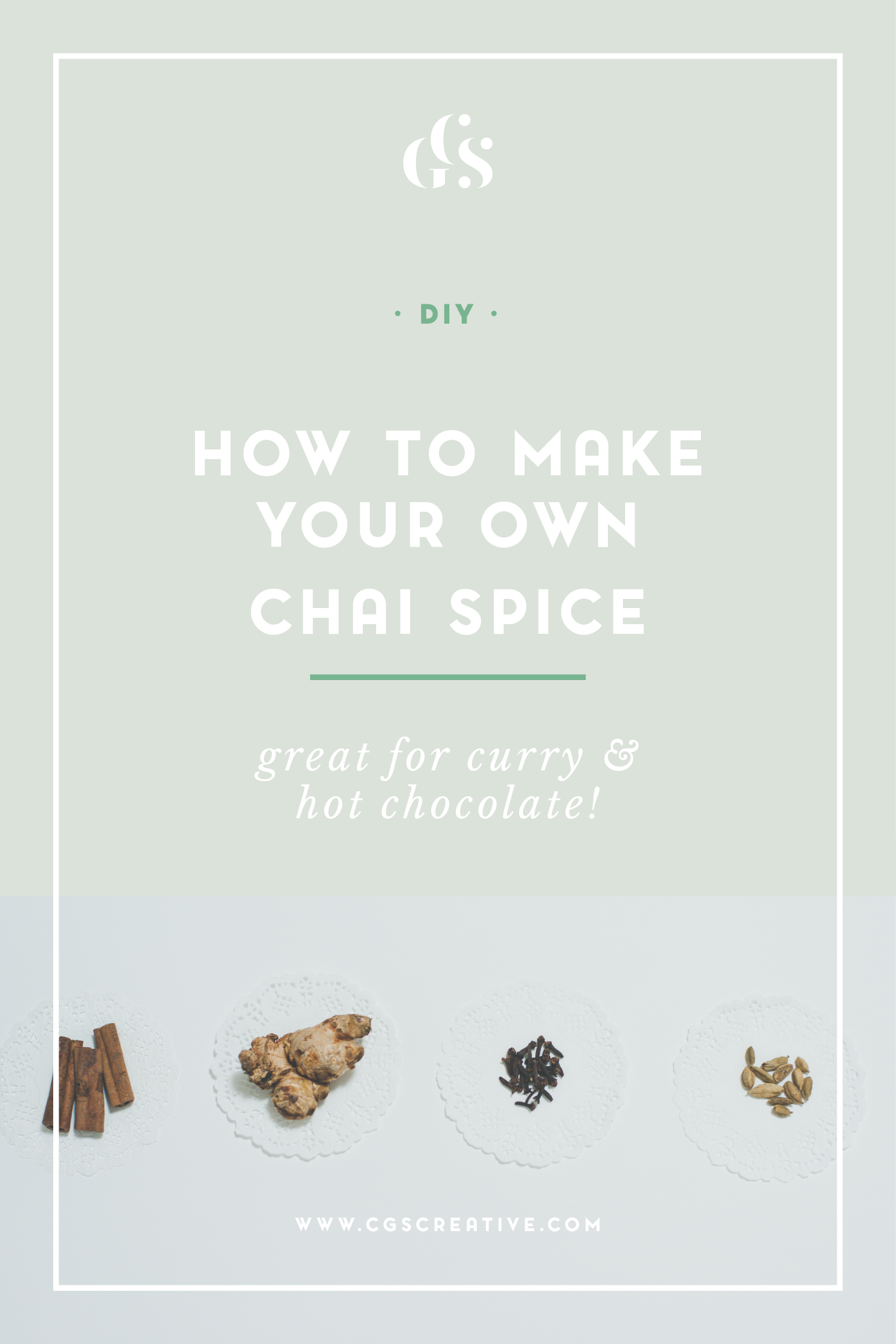 DIY How to make your own Chai Spice
