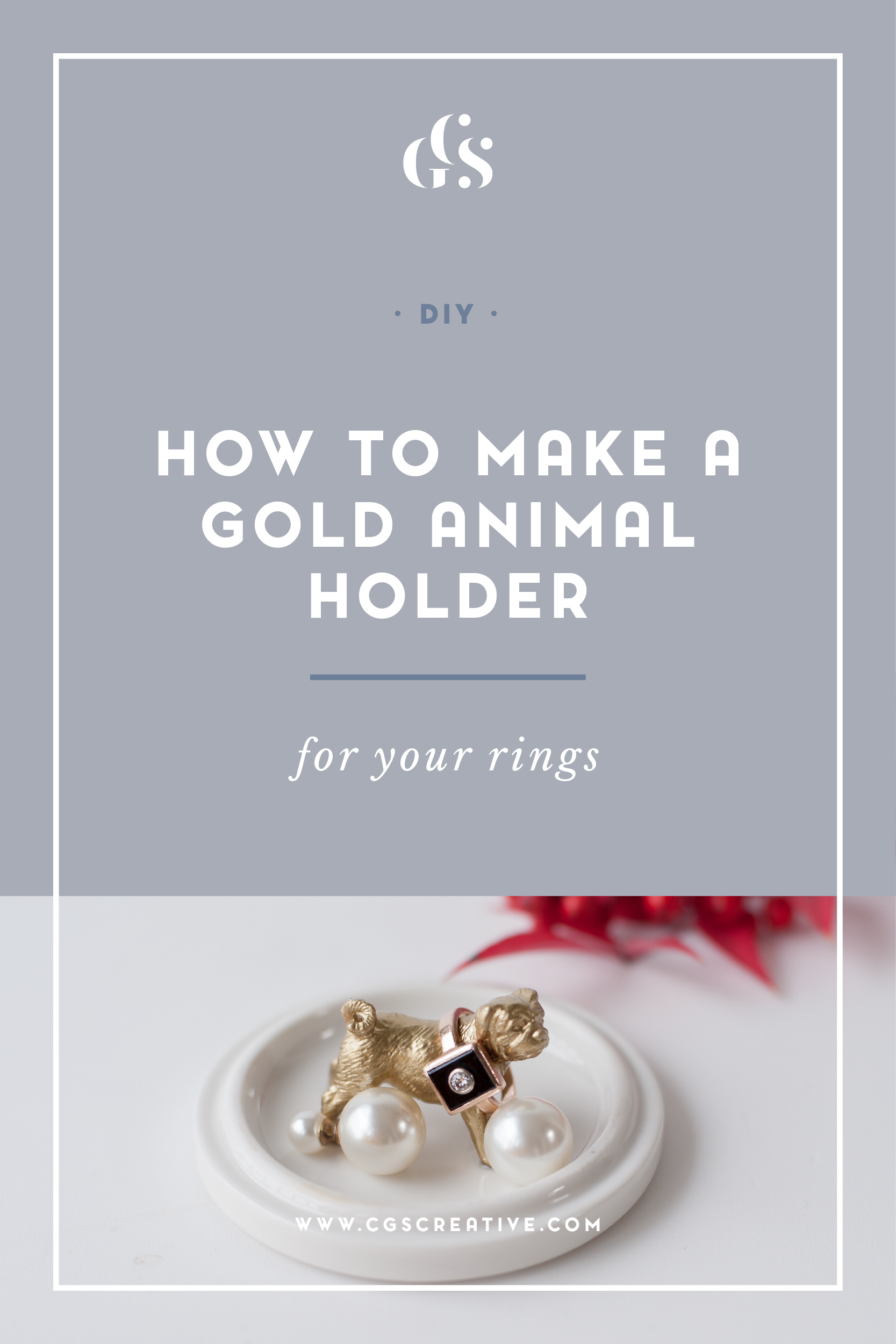 DIY How to make a Gold animal ring holder