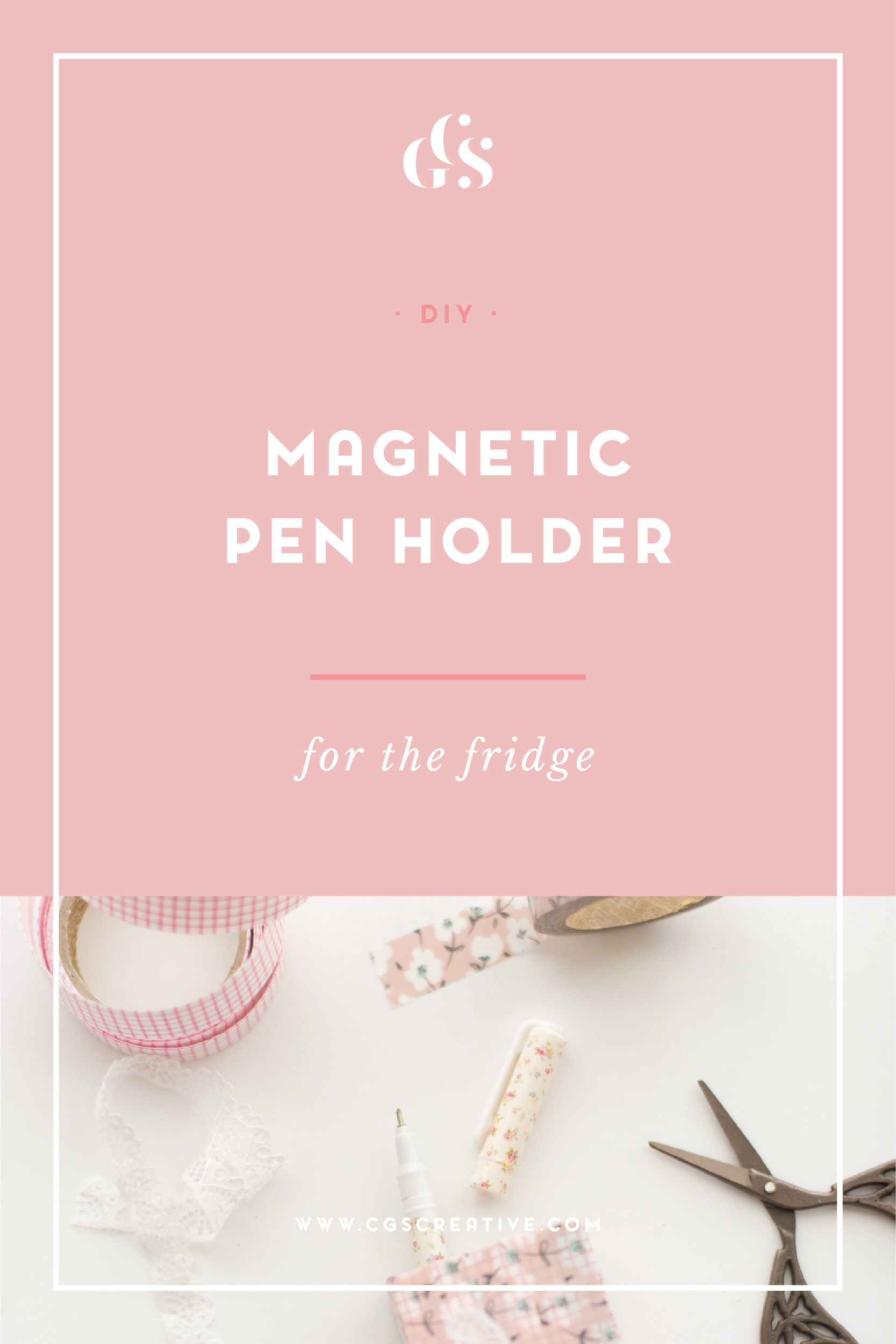 DIY magnetic pen holder for the fridge
