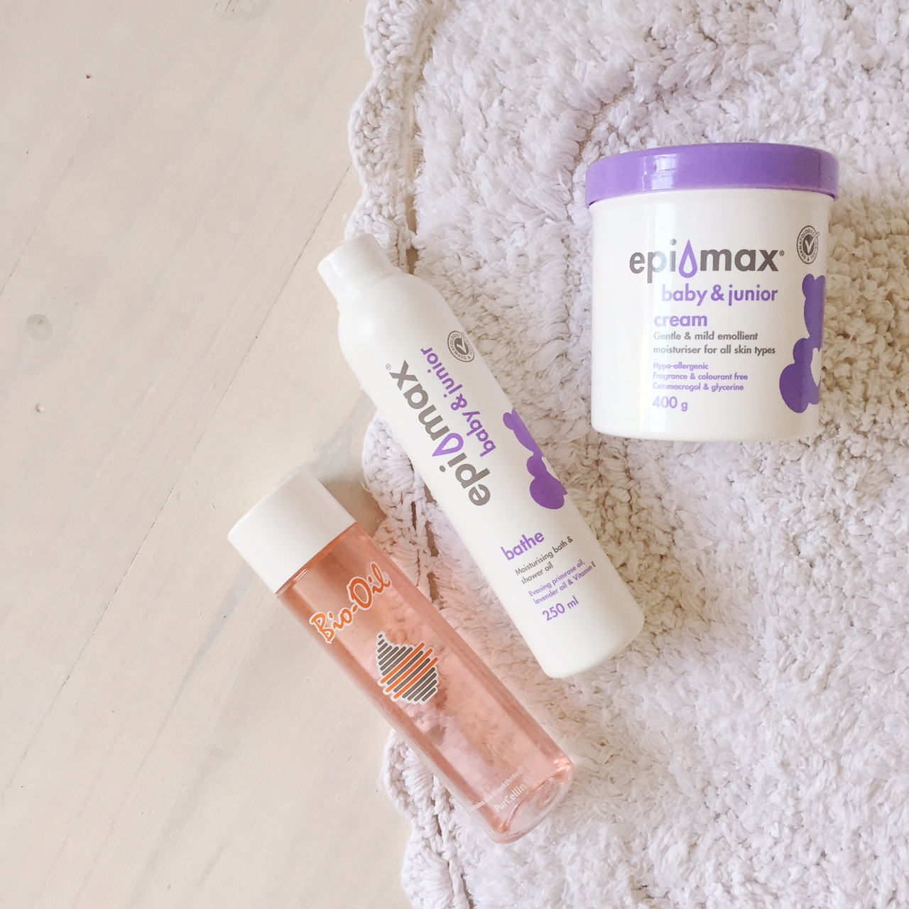 Bath & Shower Essentials - Bio-Oil, Epimax bath oil & Epimax cream