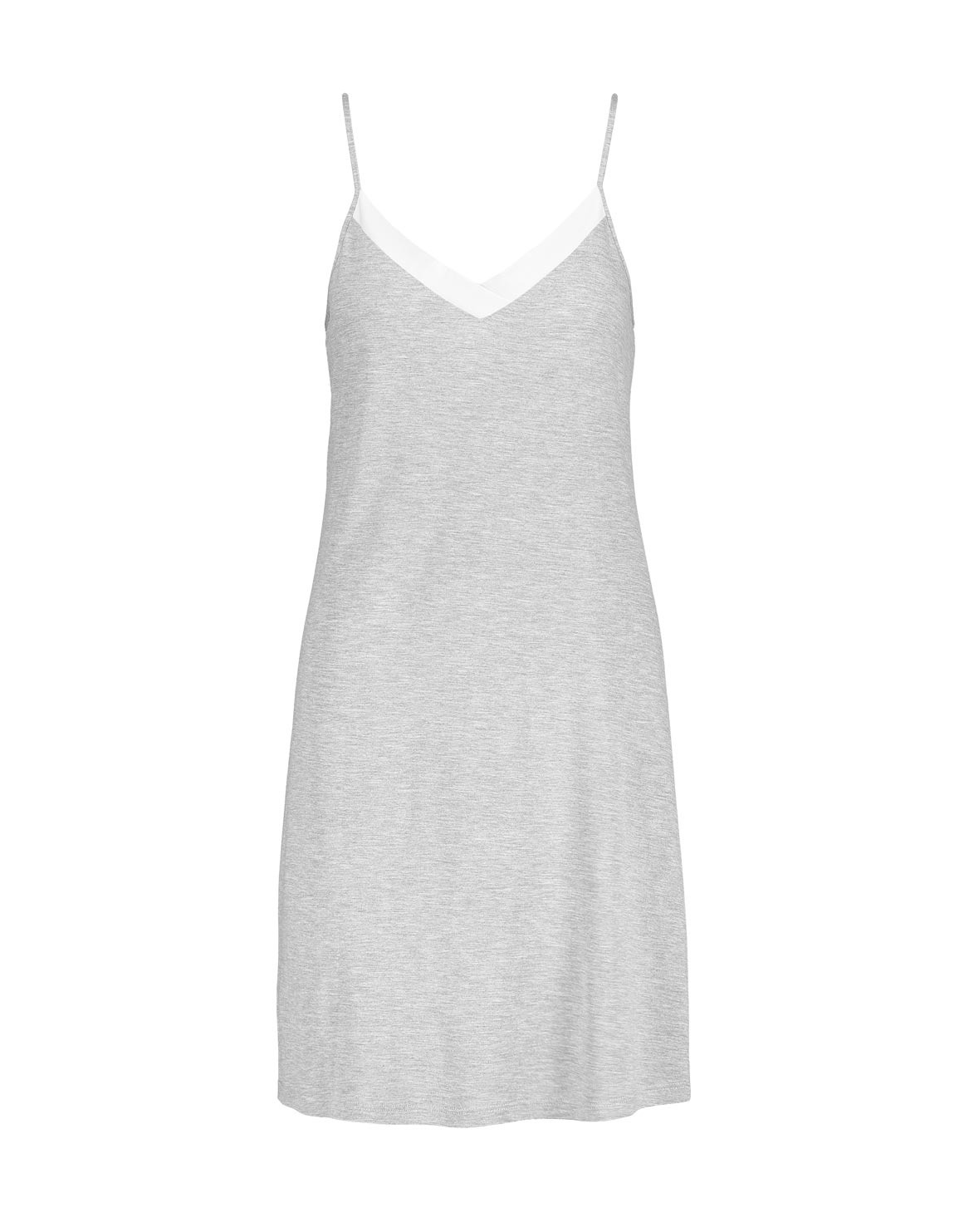 Colour-Block-V-Neck-Stretch-Viscose-Chemise-GREY-MELANGE-6009214120942.jpg