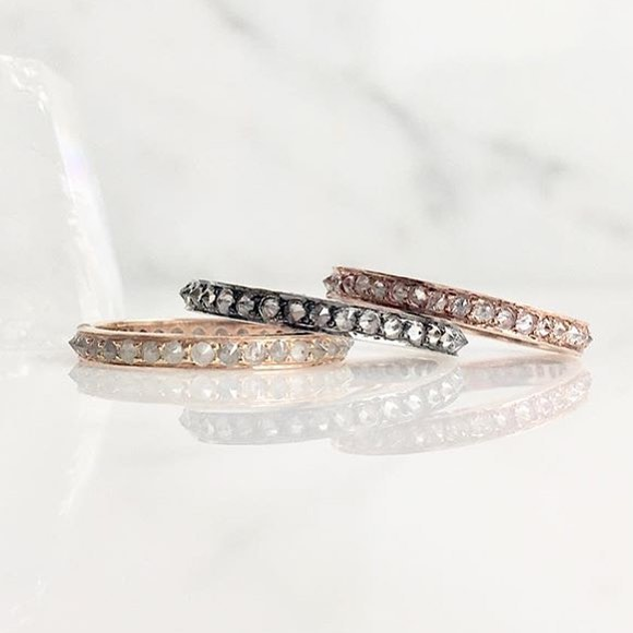 Oh Ashley❤️❤️!! We love your stacking eternities. The art of simplicity @ashleymorgandesigns .