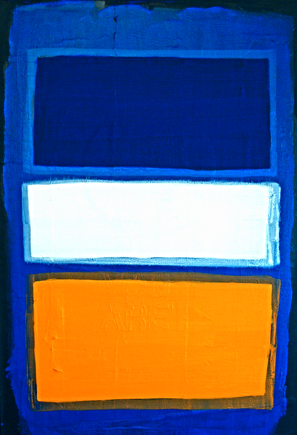 Oil, acrylic, enamel, paper on canvas - 24 x 36 inches - SOLD
