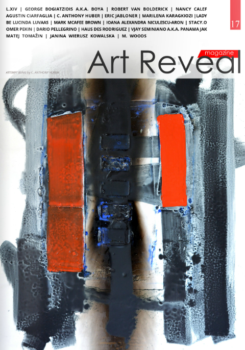 An Attempt at Being  featured on the cover of  Art Reveal Magazine .