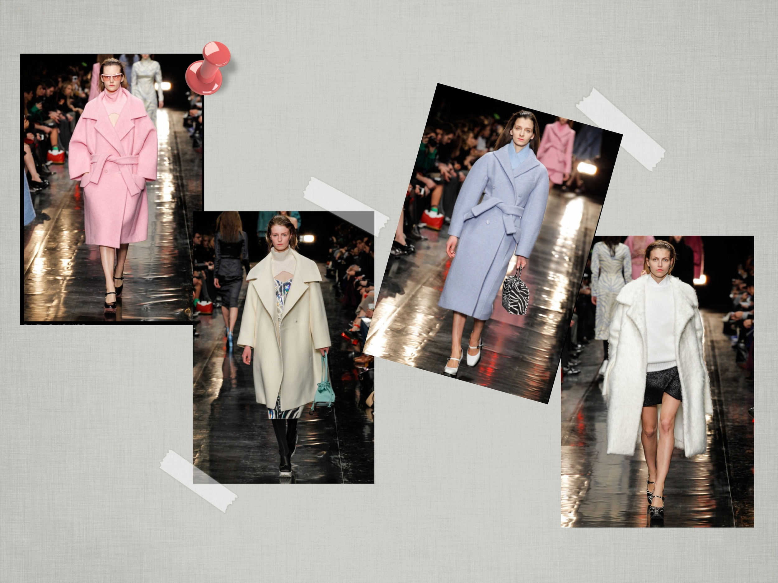 Oversized, belted, and in pastel hues.. perfection!   Formas amplias, en colores pasteles y con cinturón.. el combo perfecto!