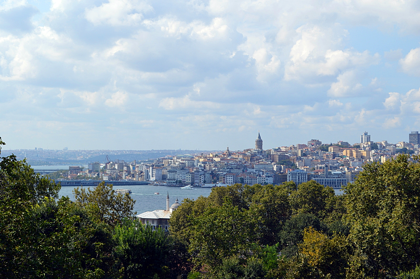 View from the Topkapi Palace Istanbul