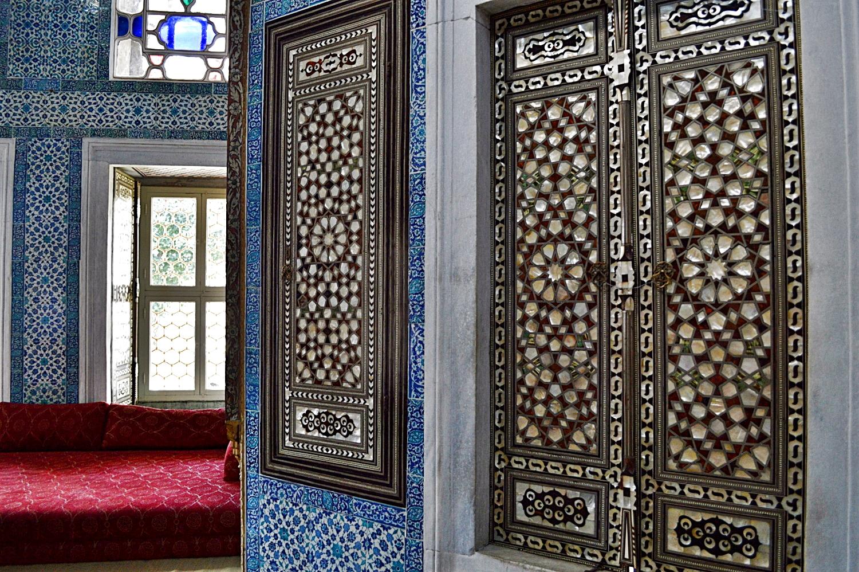 Wall inside the Topkapi Palace